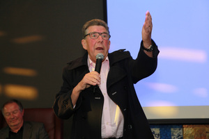 Paul Holmes at a surprise part at Skycity Grand last month. Photo / Norrie Montgomery