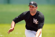 In-fielder Scott Campbell of the newly formed NZ baseball team the Black Diamonds. Photo / Natalie Slade
