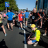 Runners rest at the finish of the Auckland Marathon. Photo / Richard Robinson
