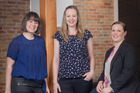 Overland Footwear staff Melissa Mason (left), Catherine Braithwaite and Amy Buller find flexible working practices boost morale. Photo / Ted Baghurst