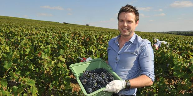 Ben Bayly in the vineyards of Champagne. Photo / Supplied