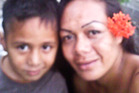 Mui May (right) with her 5-year-old son James May who died in the tragic accident. Photo / Supplied