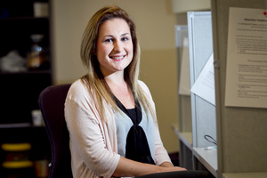 Counsellor Hannah Wood is studying for her master's in psychology. Photo / Natalie Slade