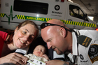 St John officer Mike France delivered his own baby in the back of an ambulance. Photo / Stephen Parker
