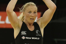 Silver Ferns vice-captain Laura Langman says a win tonight is crucial to building confidence for next season.  Photo / Getty Images