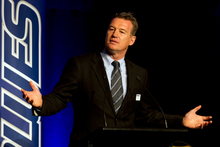 The Blues Head Coach Sir John Kirwan. Photo / Brett Phibbs 
