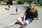Dita Donaldson loves to hang out at Marlborough Skate Park. Photo / Chris Gorman