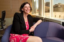 Lesley Longstone, the Secretary of Education, in her Wellington office. Photo / Mark Mitchell