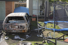 A Te Puke man suffered serious burns after the car he was working on exploded in his face yesterday morning. Photo / Bay of Plenty Times