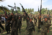 The Moro Islamic Liberation Front has been fighting for 40 years for an independent Muslim state.  Photo / AP