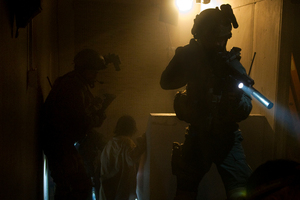 A recreation of the attack in SEAL Team Six: The Raid on Osama bin Laden.  Photo / AP