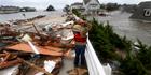 Sandy clean-up begins