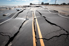 Road to nowhere. North Carolina 12 is buckled from pounding surf leading into Mirlo Beach in Rodanthe, N.C. Photo / AP