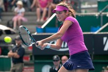 Julia Goerges will again start her year in Auckland when she lines up for the fourth time in the ASB Classic next month. Photo / Richard Robinson