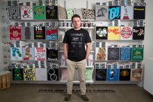 Rob Ewan of T-shirt company Mr Vintage in Grey Lynn, Auckland. Photo / Richard Robinson