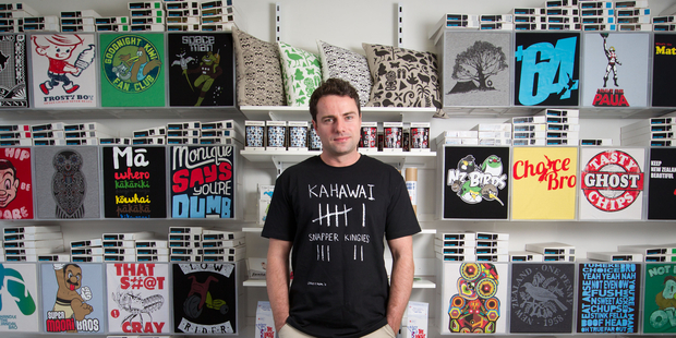Rob Ewan of T-shirt company Mr Vintage in Grey Lynn, Auckland. Photo / Richard Robinson