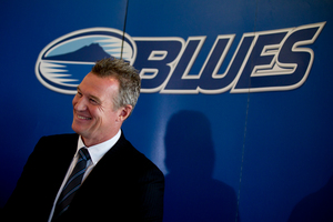Blues coach John Kirwan says the squad was picked on how well they thought the team would gel. Photo / Brett Phibbs