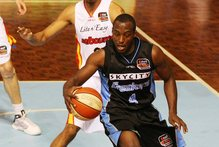 Breakers Cedric Jackson in action. Photo / Greg Bowker