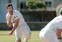 Northern Districts bowler Anton Devcich. Photo / APN