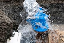 A water main under repair. Photo / File