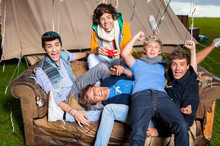 The fun-loving boys from One Direction sometimes struggle with long stints on the road. Photo / Supplied