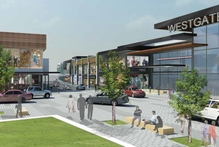An artist's impression of the retail area in new Westgate Town Centre planned by NZRPG, which will eventually offer 192,000 sq m of retail space. Photo / Supplied
