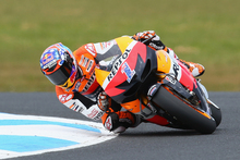 Casey Stoner won a fairytale sixth successive Australian Motorcycle Grand Prix on Sunday as Spaniard Jorge Lorenzo clinched the MotoGP world championship. Photo / Getty Images.