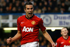 Manchester United's Robin van Persie celebrates after scoring a goal during an English Premier League soccer match. Photo / Getty Images.