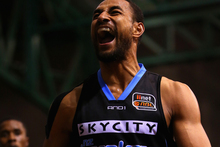 Mika Vukona of the Breakers reacts during the round five NBL match between the New Zealand Breakers and the Sydney Kings. Photo / Getty Images.