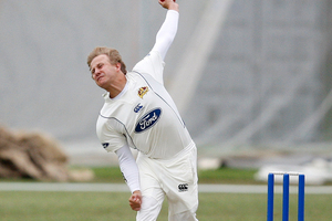 Neil Wagner took two wickets from the final two balls of the day to put Otago well in control at the halfway point of their Plunket Shield match against Canterbury today. Photo / Wayne Drought.