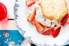 Strawberry and coconut icecream sandwiches. Photo / Babiche Martens