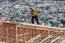 Today's figures show new dwelling consents climbed 32 per cent from October 2011. Photo / Mark Mitchell