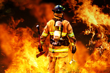 Researchers at Carnegie Mellon University have found a way to track firefighters by attaching sensors to the heels of boots. Photo / Thinkstock