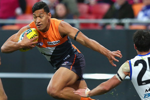 Israel Folau announced his departure from the AFL yesterday. Photo / Getty Images