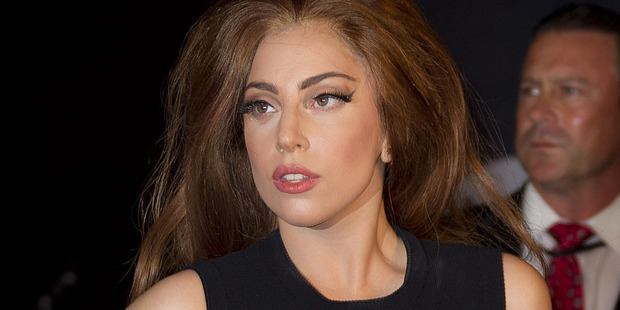 Lady Gaga was engaged in a brief online spat with DJ Calvin Harris. Photo / AP