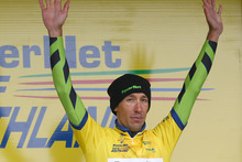 Tour Leader Heath Blackgrove of Waimate looks on after the prologue stage of the Tour of Southland. Photo / Getty Images