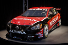 Nissan's Altima V8 Supercar which will compete next season. Photo / Supplied