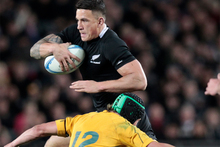 Sonny Bill Williams in action during his last test for the All Blacks. Photo / Richard Robinson