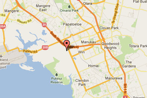 The fire in the Wiri factory was well involved by the time firefighters arrived. Photo / Google maps