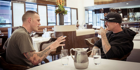 Richie Hardcore (left) and Chris Rene. Photo / Ted Baghurst