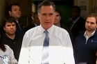 Republican presidential nominee Mitt Romney made a brief Election Day stop in the Pittsburgh area, where he was greeted by hundreds of supporters even though it wasn't advertised as a public event.