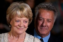 British actress Maggie Smith with her pal Dustin Hoffman on the red carpet recently. Photo / AFP