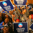 The crowd cheers at the news that President Barack Obama had won re-election, at a state Democratic Party rally Tuesday night, in Atlanta. Photo / AP