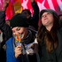 People celebrate at Rockefeller Center in New York, after President Barack Obama was projected to win a second term. Photo / AP