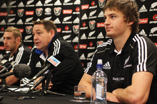 A journalist from nzherald.co.nz was barred from a press conference ahead of the All Blacks' test with Scotland due to the critical comments of a Herald sportswriter. Photo
