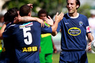 Auckland City captain Ivan Vicelich celebrates with team mates. Photo / Getty Images.