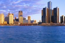 The Detroit skyline at sunrise. Photo / Supplied