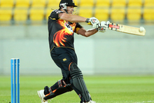 Jesse Ryder of Wellington bats during the Twenty-20 match between the Wellington Firebirds and the Canterbury Wizards. Photo / Getty Images.