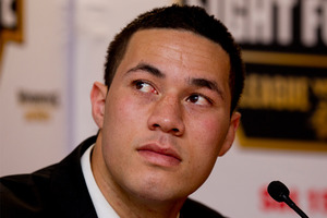 Rising New Zealand heavyweight boxer Joseph Parker made easy work of Terry Tuteru last night in Auckland, demolishing the last minute replacement fighter in the second round. Photo / Getty Images.