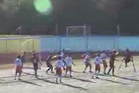 Nico Calabria scored a incredible one-legged overhead volley for his USA high school side. Photo / Youtube.